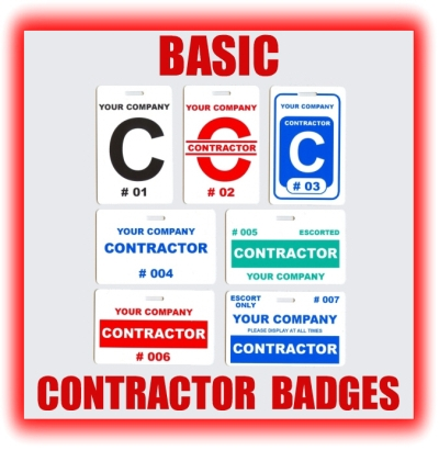 basic contractor badges examples