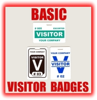 basic visitor badges graphic button
