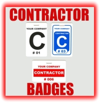 contractor badges graphic button