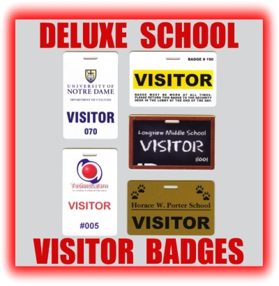 deluxe school visitor badges and school visitor pass examples