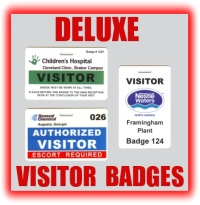deluxe visitor badges graphic button