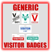generic visitor badges graphic button