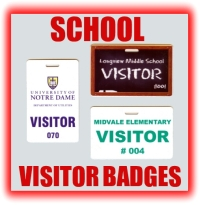 school visitor badges and school visitor pass graphic button