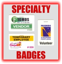 specialty badges temporary employee volunteer button