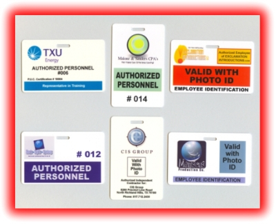 examples of specialty badges and authorized personnel badges