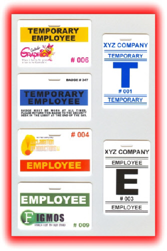 examples of temporary employee badges and employee badges